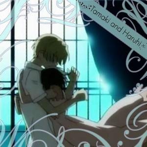 tamaki   haruhi   thunder  Haruhi And Tamaki Hug