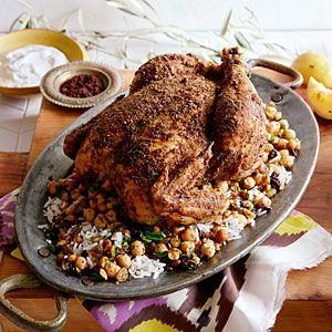 ... and Sumac Roast Chicken with Chickpeas and Hazelnuts | MyRecipes.com
