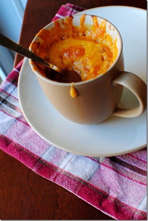 Roasted Tomato Soup with Broiled Cdeddar.... yum!!