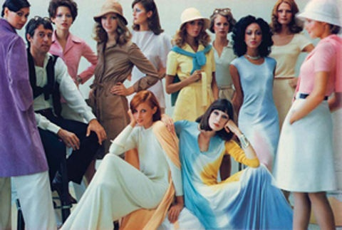Duane michals halston with models colors fashion n graphics p