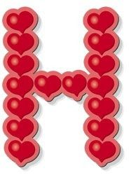 d alphabet in heart  heart alphabet