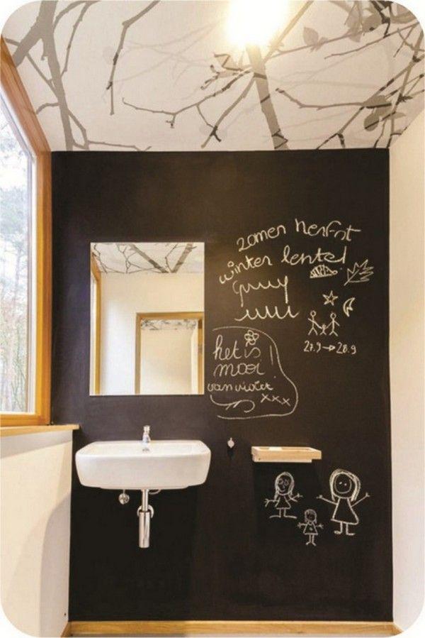 Chalkboard paint wall ideas inspirations pinterest for Chalkboard paint decorating ideas