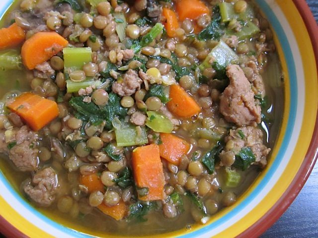 lentil & sausage stew - Budget Bytes
