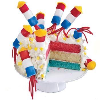 Firecracker Cake | Holidays | Pinterest