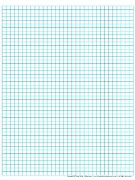 Graph Paper: Full Page Grid - half centimeter squares - 31x46 boxes n ...