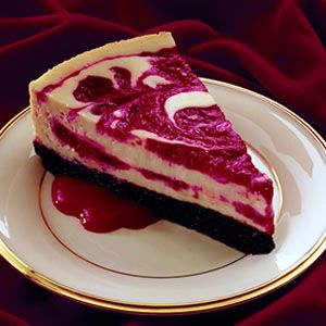 Cherry Swirled Cheesecake | Cuppy Cakes and Gum Drops | Pinterest