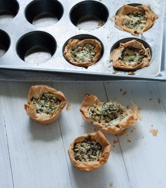 Spinach & Artichoke Dip in Fillo Cups | Recipe