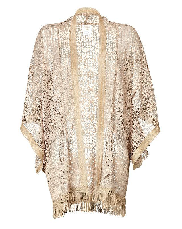 Crochet Knit Kimono from ANNA SUI Luxury fashion online STYLEBOP ...