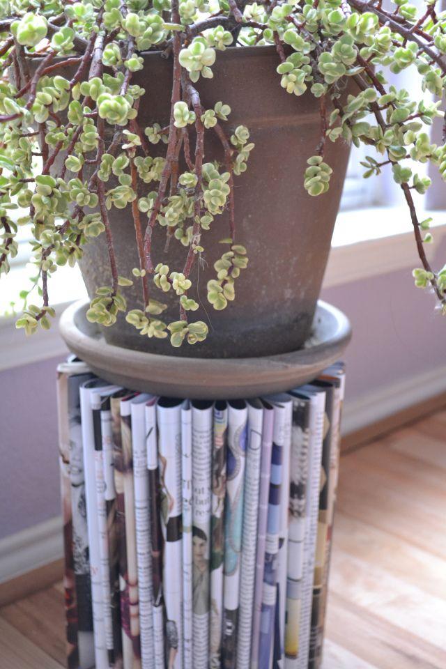 Diy magazine plant stand plant landscaping ideas pinterest