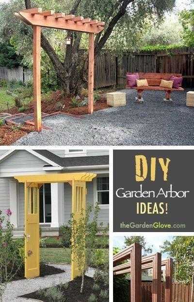 Diy garden arbor ideas garden pinterest for Diy garden arbor designs