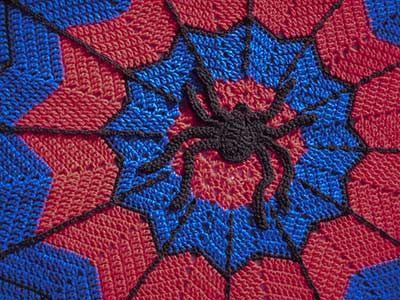 Crochet Pattern For Spiderman Blanket : Ripple #55 - SPI-der Man!!