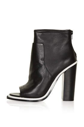 Pounce Premium Peep Toe Boots