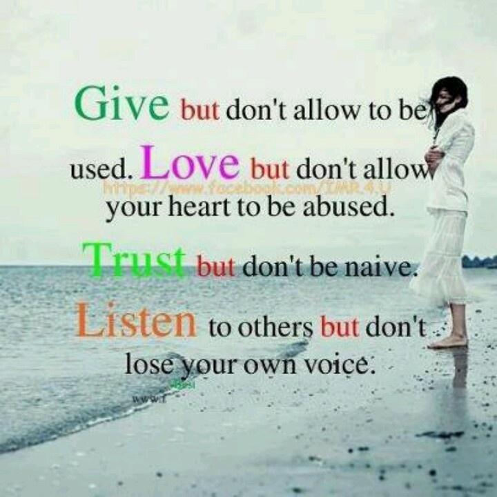 Give, love Trust & listen