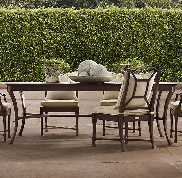 dining table painted metal dining tables restoration hardware