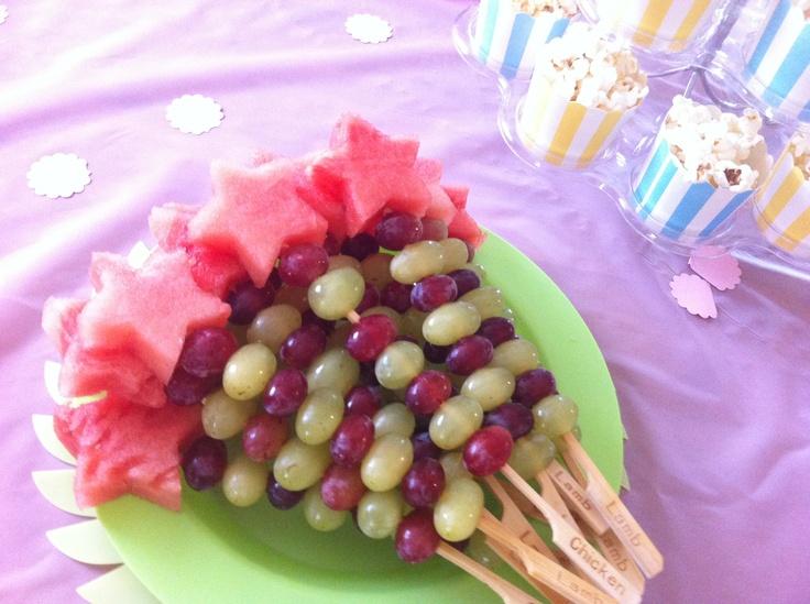 Magic wand fruit sticks | Party fruit | Pinterest