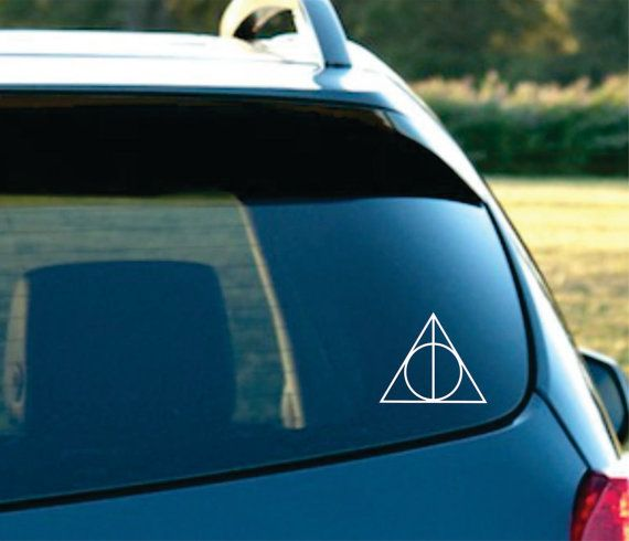 deathly hallows car decal. buying.