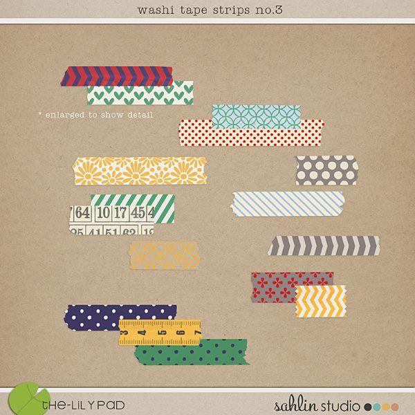 washi tapes strips no. 3 by sahlin studio