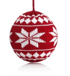 Knitted bauble knitted cuties Pinterest