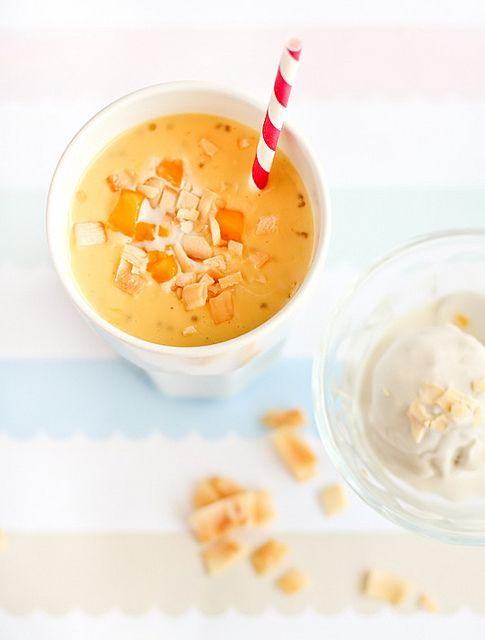 Biko Cupcakes With Mango Sorbet Recipe — Dishmaps