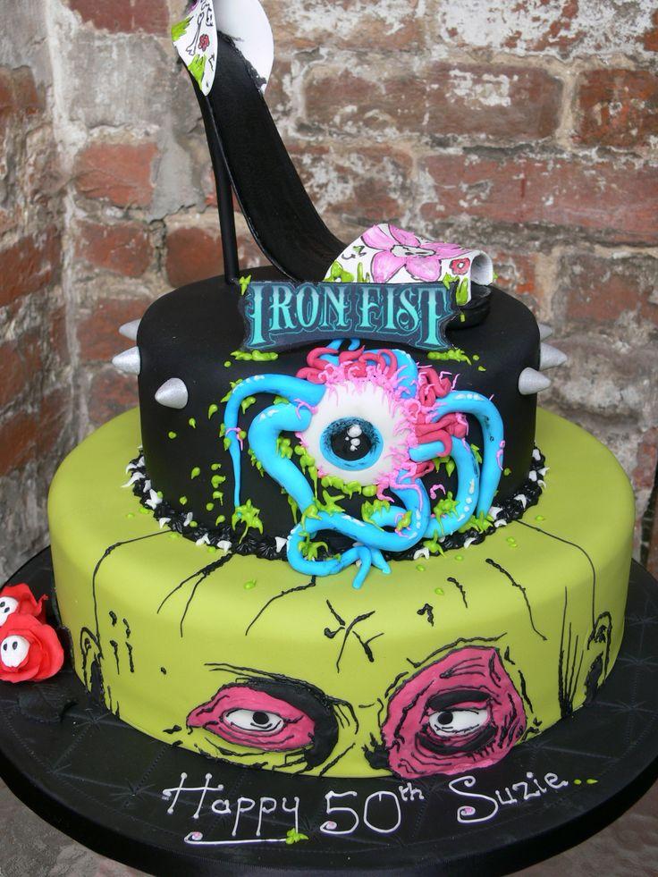 ironfist # shoes # extremecake # eyeball # monster # cake