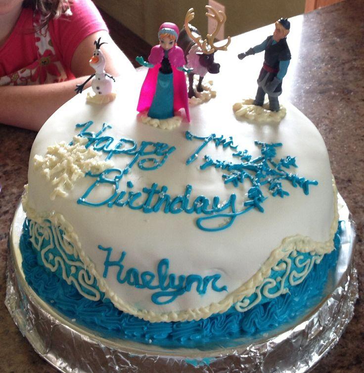 Kaelynn s 7th Birthday Frozen cake! Party Ideas Pinterest