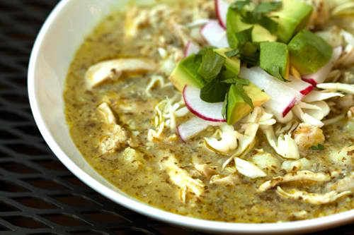 green chile chicken posole...Mexican chicken and hominy soup with ...
