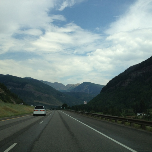 Driving out of Vail