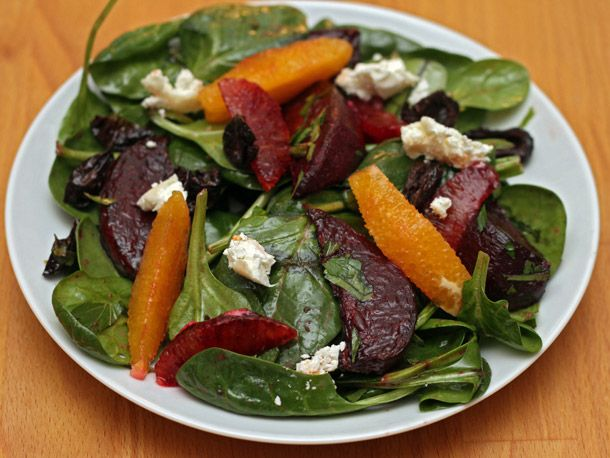 beets, oranges, spinach, goat cheese. Familiar stuff. But the dressing ...