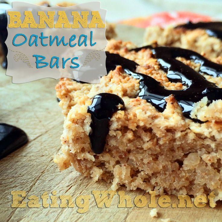 Banana oatmeal bars | Gluten-Free | Pinterest