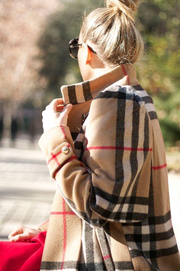ready for fall plaid coat