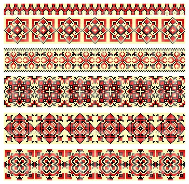 Геометрический орнамент для вышивки крестом
