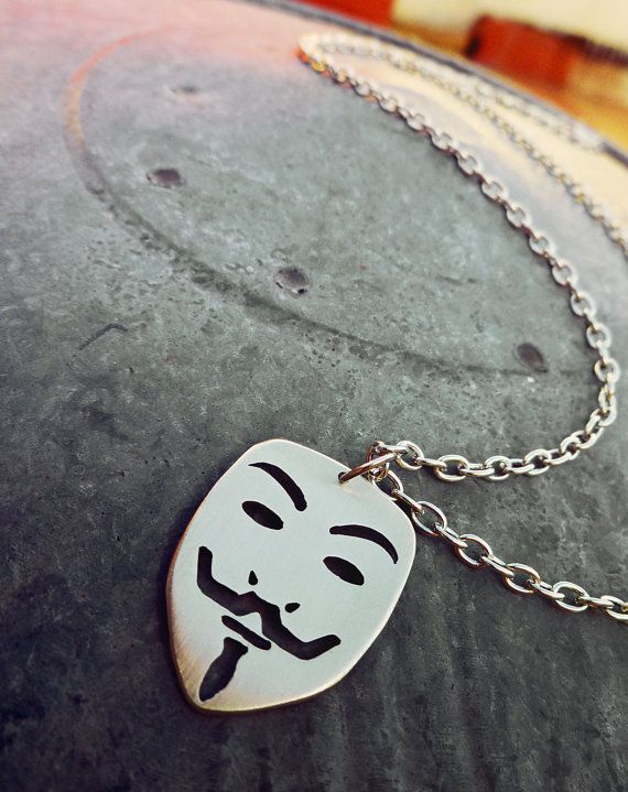 coach factory outlet online store fake Guy Fawkes Mask V for Vendetta Pendant Necklace