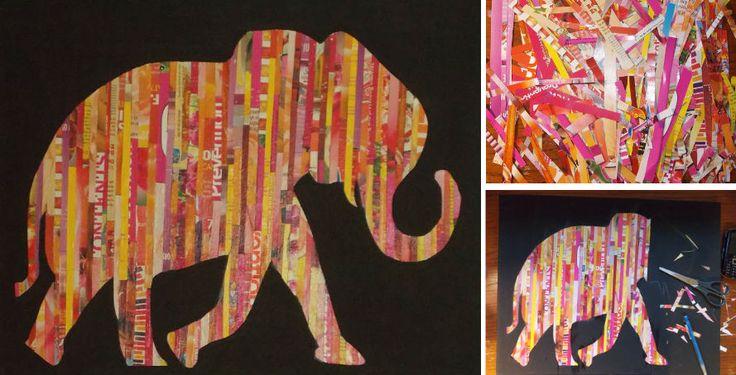 Magazine strip silhouette wall art share your craft pinterest - Magazine wall decor ...