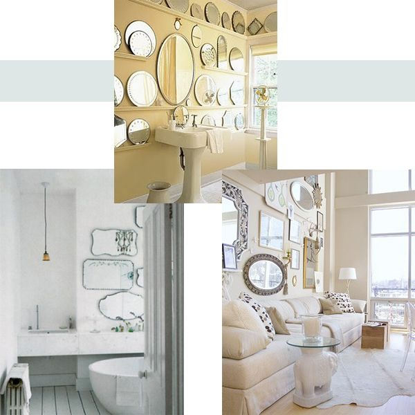 mirror collage ideas home decor pinterest