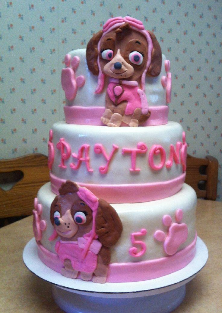 paw patrol skye cakes