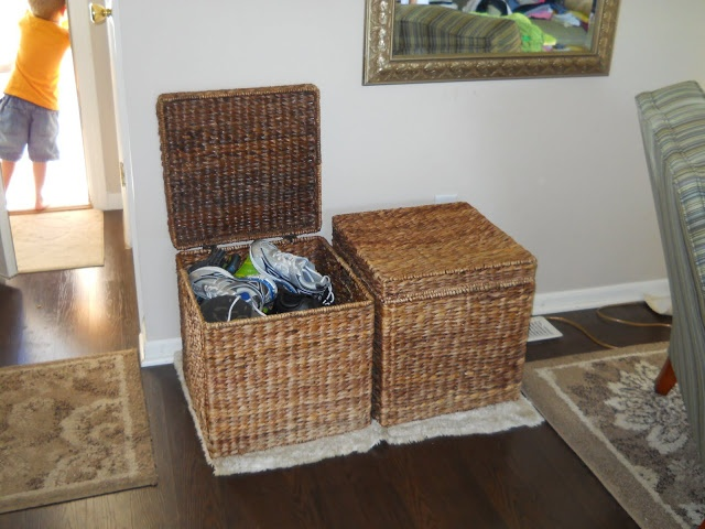shoe baskets org pinterest