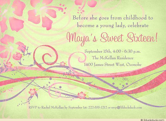 Hawaiian Invitation Cards with good invitation example