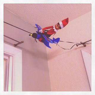 Elf on the Shelf Idea Airplane Ride