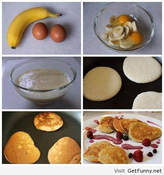 Quick and easy banana pancakes | Real Food Recipes | Pinterest