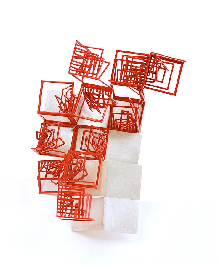 Alice Bo Wen Chang  Red brooch - Bodyspace/bodyscape series -