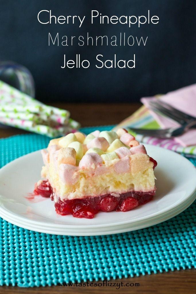cherry pineapple marshmallow jello salad  recipe