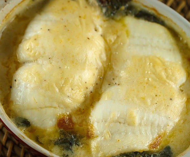 Stuffed Flounder Florentine in a Mornay Sauce