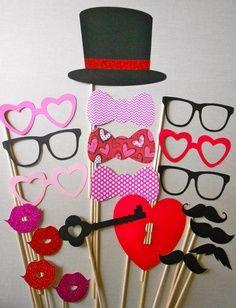 valentine day photo props