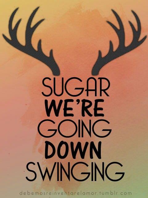suger were going down swinging Bizarre Adventures