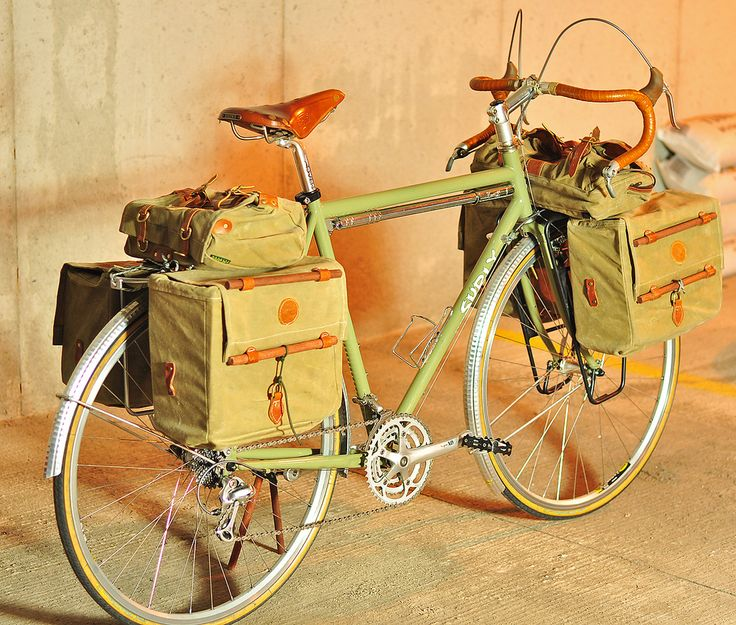 vintage bicycle touring bags nevertheless