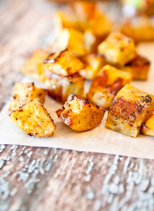 caribbean citrus roasted sweet potatoes
