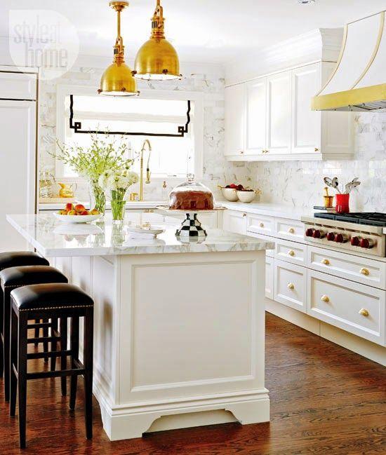 White Kitchen + Gold Accents