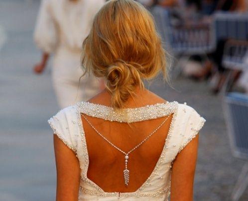 Wedding Fashion Trend — The Backward Necklace