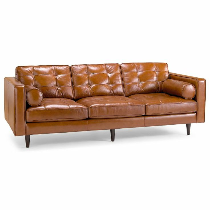 Jcpenney darrin 89quot leather sofa good housekeeping for Jcpenney sectional sofas