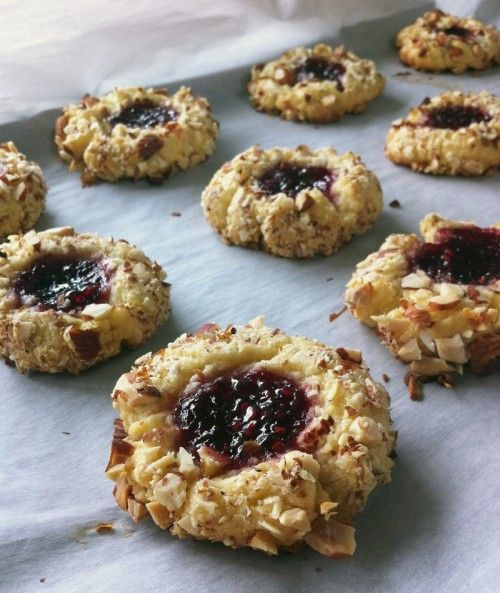 raspberry thumbprint cookies | A Balanced Diet is a Cookie in Each Ha ...